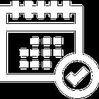 white calendar doctor icon