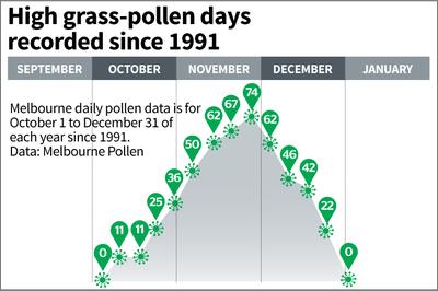 Pollen count melbourne